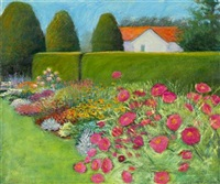 hedge & flower garden by janet fredericks