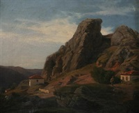 alpine landscape by cornelius gurlitt