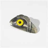 surrealist brooch by sam kramer