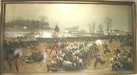 civil war battle scene by carl röchling