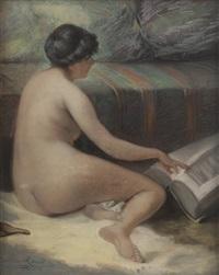 nu à la lecture by leon renoir