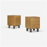 nightstands model 4617, pair by george nelson & associates