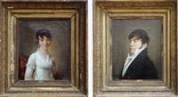 madame et monsieur antoine bouscaren (2 works) by françois jean (jean françois) sablet