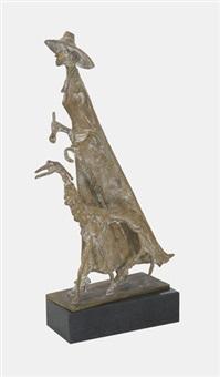 louise elisabeth de meuron mit windhund by albert (lindegger) lindi