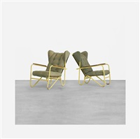 rare prefacto lounge chairs (pair) by pierre guariche