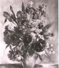 blumenstrauss mit pfingstrosen und schwertlilien by otto lauterbach