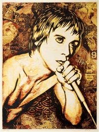 iggy pop by shepard fairey