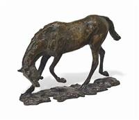 cheval faisant une descente de main by edgar degas