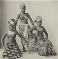 three dahomey girls, 1967 by irving penn