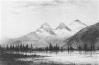view of the three sisters, canmore, alberta by walter james baber