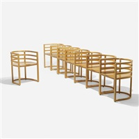 armchairs (set of 8) by richard meier