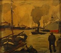 bateaux sur l´escaut by oscar verpoorten