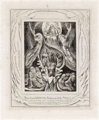 thou hast fulfilled the judgment of the wicked (from illustrations of the book of job) by william blake