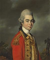 portrait of lieutenant general sir james duff, half-length, in military uniform by john russell