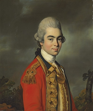 portrait of lieutenant general sir james duff half length in military uniform by john russell
