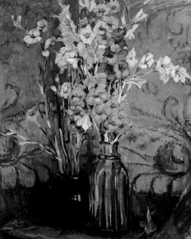still life with gladiolas by ruth a temple anderson