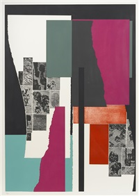 plates i; iv; v; vi (from celebration suite) by louise nevelson