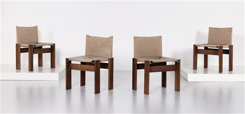 set of four monk chairs by afra and tobia scarpa & Set of four Monk chairs by Afra and Tobia Scarpa on artnet