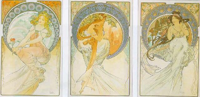 La Poésie, la Peinture la Musique by Alphonse Mucha on artnet