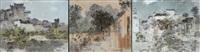 landscape (triptych) by xu fu hou