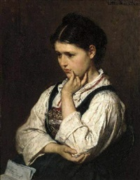 a pensive girl by otto edmund gunther