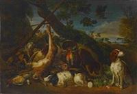 großes jagdstillleben by david de coninck