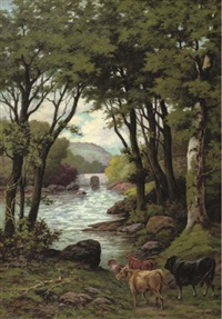 a view of wissahickon, philadelphia, pennsylvania by g. sandorff