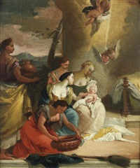 the finding of moses by francesco zugno the younger
