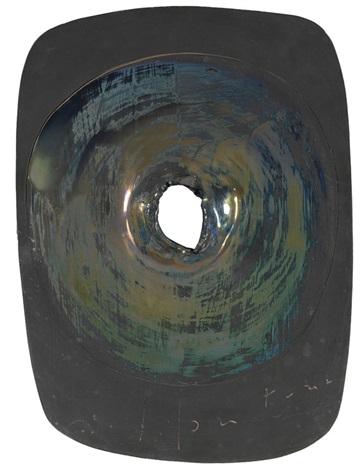 concetto spaziale cratere by lucio fontana