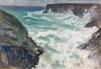 rochers à belle-île by jean puy