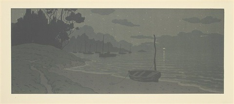 la nuit, pl.15 (from la féerie des heures) by henri rivière