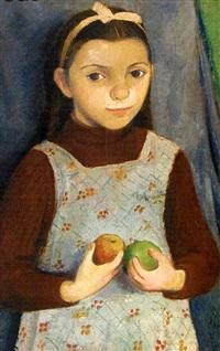 mädchen mit äpfeln by grete csaky-copony