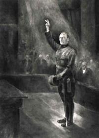 general guisan bei seiner vereidigung by emil aufdenblatten