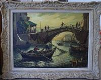 pont animé à martigues by joseph marius hurard