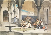 musique au harem by cesare felix georges dell' acqua
