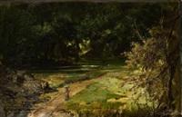 paisaje con figuras by dionisio fierros