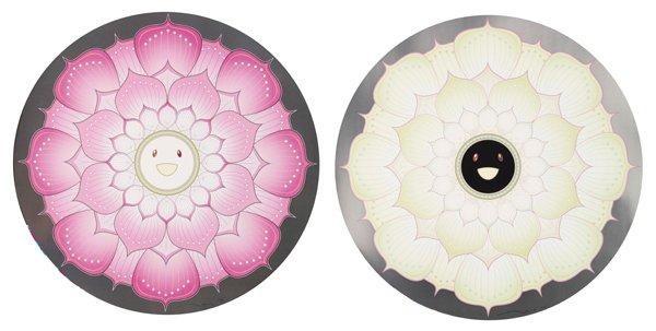 lotus flower pink lotus flower white 2 works by takashi murakami