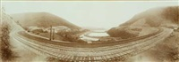 horseshoe curve, pennsylvania railroad by william h. rau