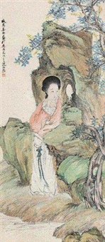 倚石美人 by jiang xun