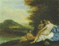diana mit ihren nymphen an einem flußufer ruhend by pieter hendrickx spykerman