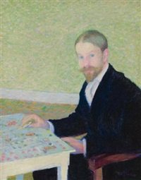 portrait of the artist, wiiliam hart, giverny by theodore earl butler