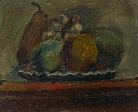 plate of fruit by jean pougny