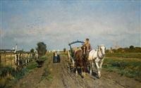 l'attelage dans les polders by frans van leemputten