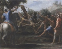 the crucifixion of saint peter by giovanni paolo recchi