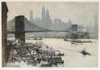 new york, brooklyn bridge by luigi kasimir