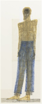 blue pants by walter pichler