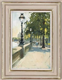 cheney walk, embankment by paul rafferty