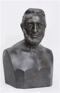 portrait bust of john moffat (1788-1863) by hiram powers