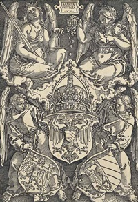 coat of arms of the empire and of the city of nuremberg, from the reformation of the city of nuremberg by albrecht dürer