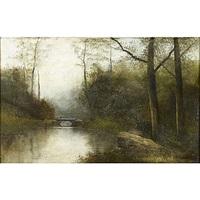 landscape with footbridge by thomas allen jr.
